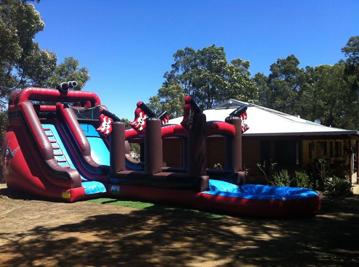 Inflatable water slide hire in perth big bounce for Pool show perth 2015